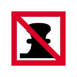 Afmeren verboden bord