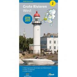 ANWB-kaart J Grote rivieren west
