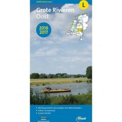 ANWB-kaart L Grote rivieren oost