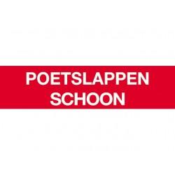 Poetslappen schoon sticker