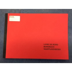 Vaartijdenboek-Bordbuch rood