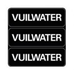 Sticker ''Vuilwater''