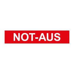 Graveerplaatje 'Not-aus' mt. xs