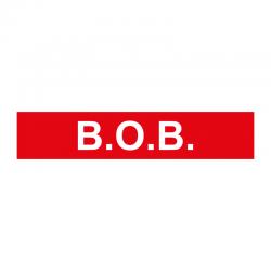 Graveerplaatje 'B.O.B.' mt. xs