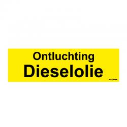 Graveerplaatje 'Ontluchting dieselolie' mt.m