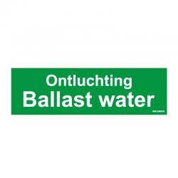 Graveerplaatje 'Ontluchting Ballast water' mt.m